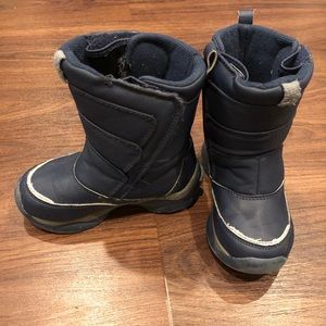 Kids Lands End Snow Flurry Winter Boots Navy Sz 9
